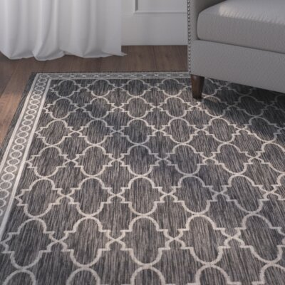 Rockbridge Black/Beige Indoor/Outdoor Area Rug