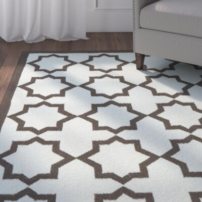 Warren Handmade Light Blue Area Rug Rug Size: 4 x 6
