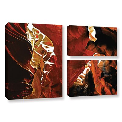 Slot Canyon Light From Above 6 3 Piece Photographic Print on Wrapped Canvas Set
