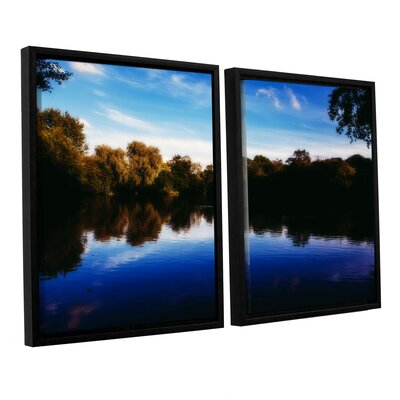 Lakeview 2 Piece Framed Photographic Print on Canvas Set
