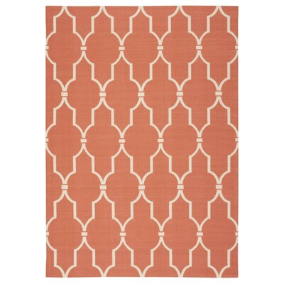 Coyne Orange/White Indoor/Outdoor Area Rug Rug Size: 5'3 x 7'5