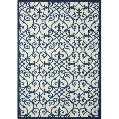 Sigel Blue/Beige Indoor/Outdoor Area Rug Rug Size: 44 x 63