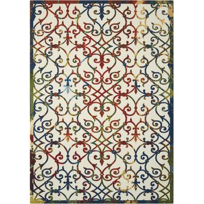 Sigel Blue/Beige Indoor/Outdoor Area Rug Rug Size: 79 x 1010