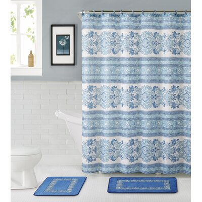 Bossier City 15 Piece Shower Curtain Set
