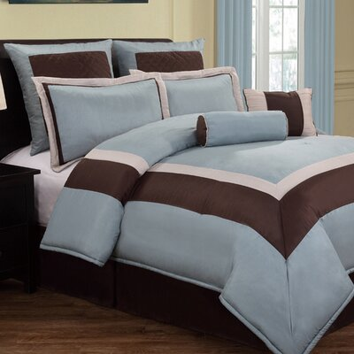 Poppasquash 8 Piece Reversible Comforter Set Size: Queen