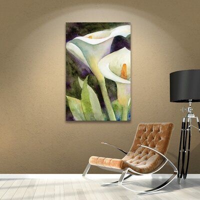 Calla Lily Painting Print on Wrapped Canvas