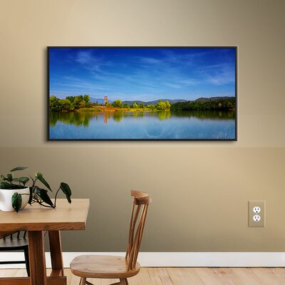 The River of The Fall Framed Photographic Print on Wrapped Canvas