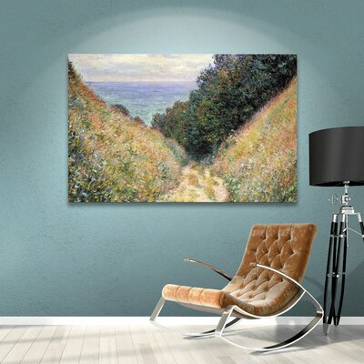 Footpath by Monet Canvas Giclee Print