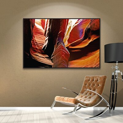 Slot Canyon Light From Above 4 Framed Photographic Print on Wrapped Canvas