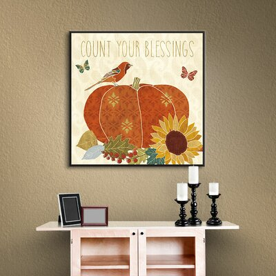 Autumn Song III Framed Painting Print on Wrapped Canvas