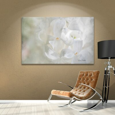 White Lilac II Painting Print on Gallery Wrapped Canvas