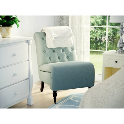 Alcott Hill Columbus Roll Back Tufted Slipper Chair