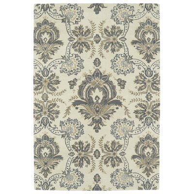 Mariemont Hand-Tufted Ivory Area Rug Rug Size: Rectangle 9 x 12