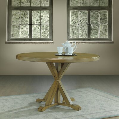 Fanning X Base Dining Table Finish: Harvest Oak
