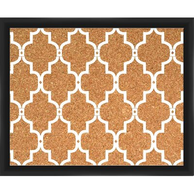 Quatrefoil Wall Mounted Bulletin Board Frame Finish: Black