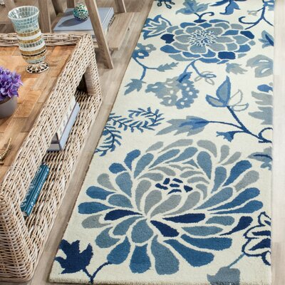 Martha Stewart Hand-Tufted Azurite Area Rug Rug Size: Rectangle 96 x 136