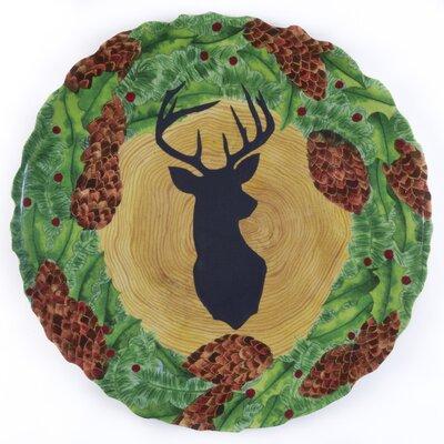 Shaffer Melamine Stag/Wreath Platter
