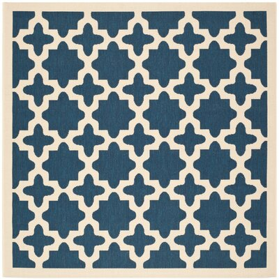 Osgood Blue Indoor/Outdoor Area Rug Rug Size: Square 4