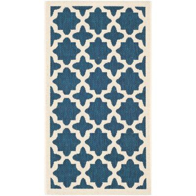 Osgood Navy Indoor/Outdoor Area Rug Rug Size: 2 x 37