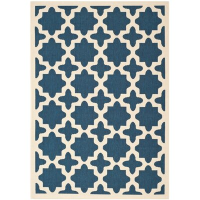 Osgood Navy Indoor/Outdoor Area Rug Rug Size: 4 x 57