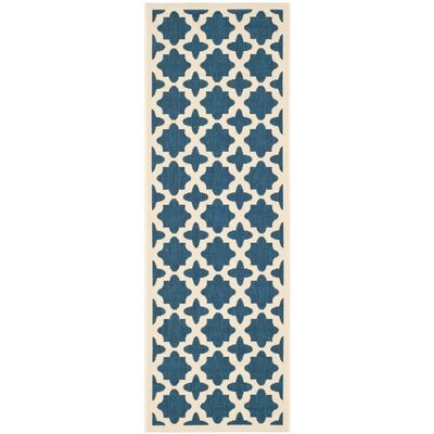 Osgood Blue Indoor/Outdoor Area Rug Rug Size: Runner 23 x 14