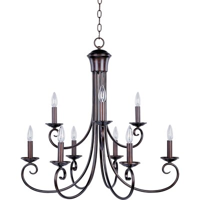 Stanford 9 Light Candle-Style Chandelier
