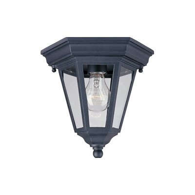 Listermann 1-Light Flush Mount Finish: Black