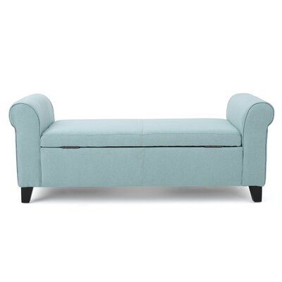Varian Upholstered Storage Bench Upholstery: Light Blue