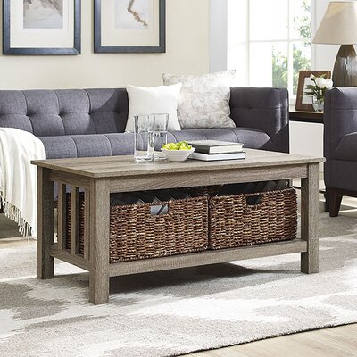 Denning Storage Coffee Table Color: Driftwood