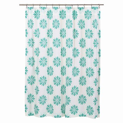 Sheppard 100% Cotton Shower Curtain Color: Turquoise