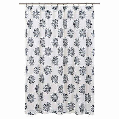 Sheppard 100% Cotton Shower Curtain Color: Indigo
