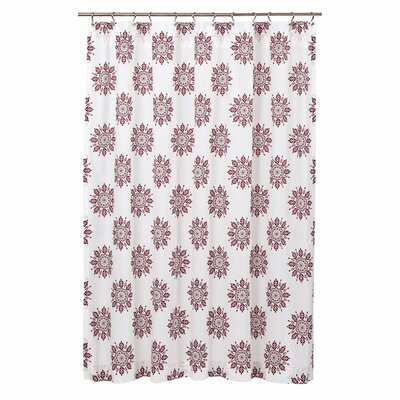 Sheppard 100% Cotton Shower Curtain Color: Fuchsia