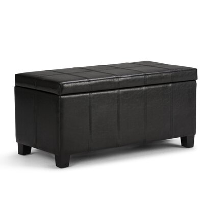 Thompsonville Storage Ottoman Upholstery Color: Midnight Black