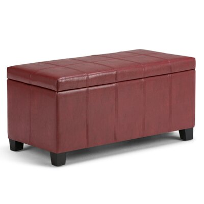 Thompsonville Storage Ottoman Upholstery Color: Radicchio Red
