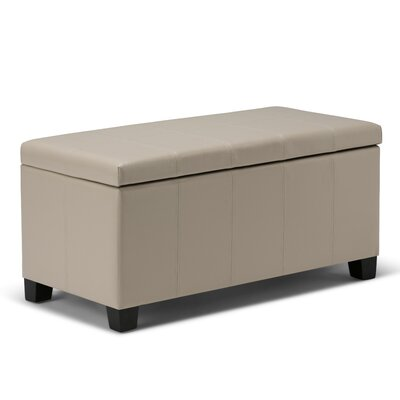 Hampshire Leather Storage Ottoman Upholstery Color: Satin Cream