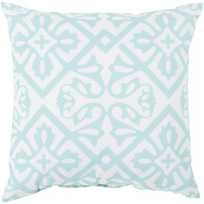 Haysville Modern Moroccan Outdoor Throw Pillow Size: 20 H x 20 W x 4 D, Color: Aqua