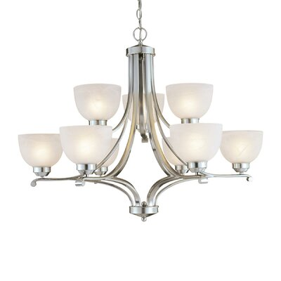 Stivers 9-Light Shaded Chandelier