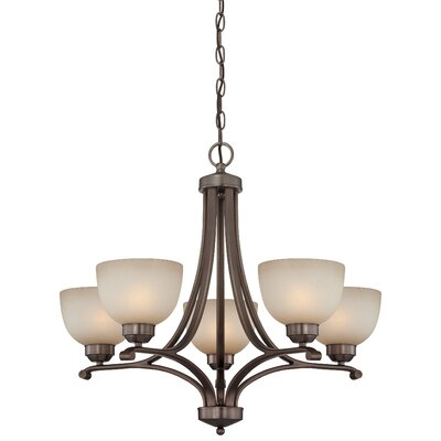 Stivers 5-Light Shaded Chandelier