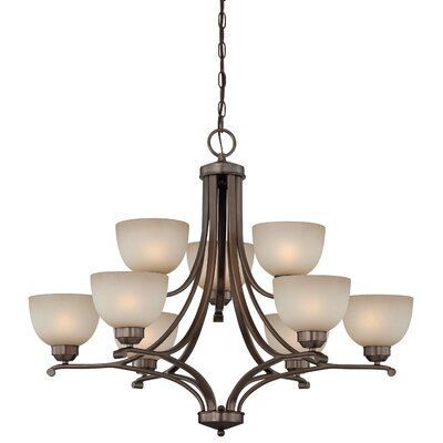 Stivers 9 Light Shaded Chandelier