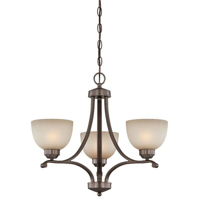 Stivers 3 Light Shaded Chandelier
