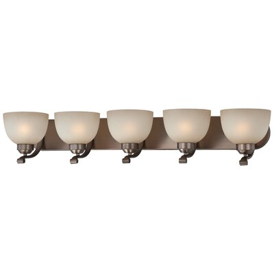 Alcott Hill Stivers 5-Light Vanity Light Finish: Harvard Court Bronze