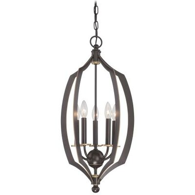 Stotts 5-Light Foyer Pendant Size: 26.75 H x 14 W x 14 D
