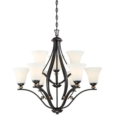 Stockton 9-Light Shaded Chandelier
