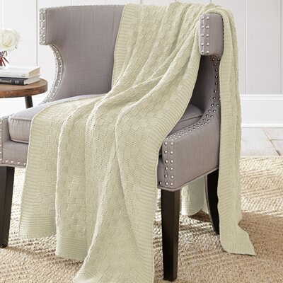 Weaver Cotton Throw Blanket Color: Oatmeal