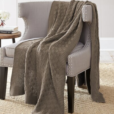 Weaver Cotton Throw Blanket Color: Driftwood