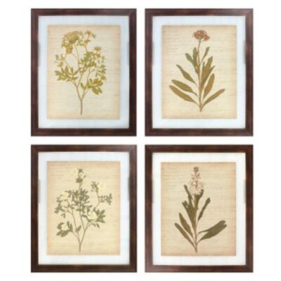 4 Piece Framed Painting Print Set