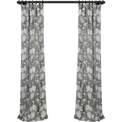 Adam Vine Embroidered Pinch Pleat Single Curtain Panel