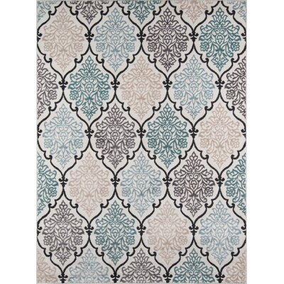 Kinsley Teal/Black Area Rug Rug Size: Rectangle 710 x 910