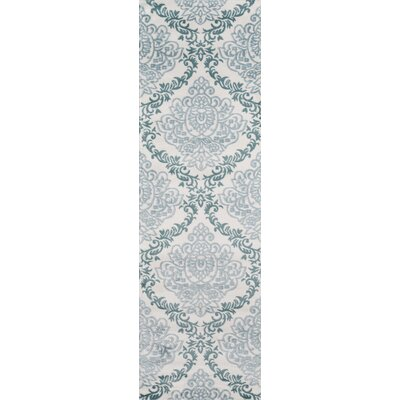 Kinsley Blue/Ivory Area Rug Rug Size: Runner 23 x 76