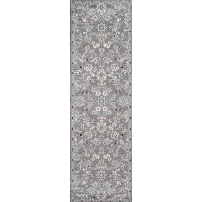 Kinsley Gray Area Rug Rug Size: Runner 23 x 76